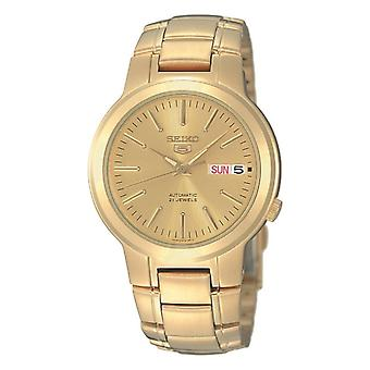 Seiko 5 Automatic Full Gold PVD Stainless Steel Men's Watch SNKA10K1