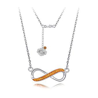 925 Sterling Silver Rhodium Plated Spirit Infinity Necklace University Of Florida 18 Inch Jewelry Gifts for Women