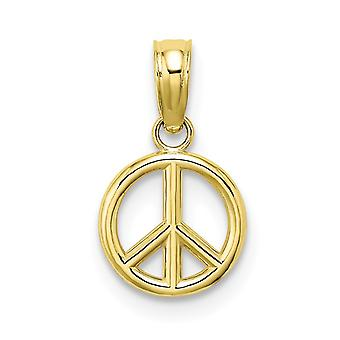 10k χρυσό 3 δ ειρήνη συμβόλων υψηλά Πολωνικά μίνι δώρα κοσμήματος περιδεραίων κρεμαστών κοσμημάτων γοητείας για τις γυναίκες-. 4 γραμμάρια