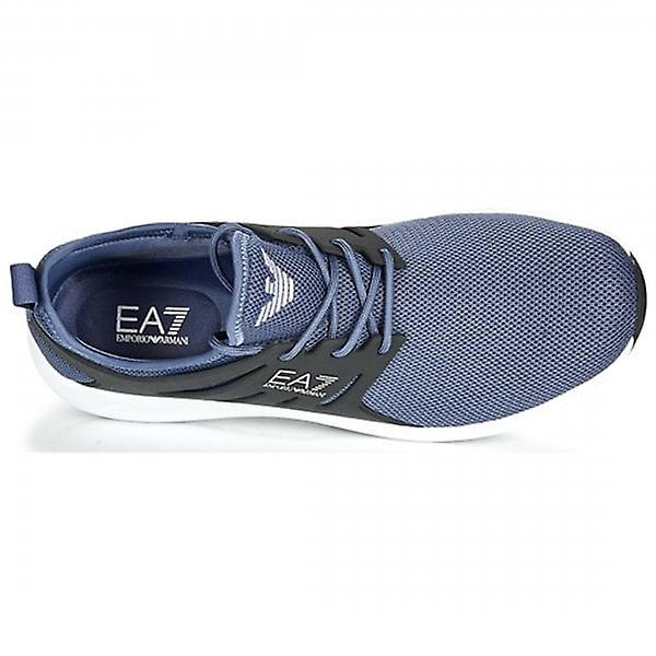EA7 Emporio Armani Night Shadow Blue Minimal Running U Trainers X8X024 XCC06