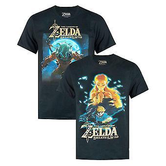Official Zelda 'Breath Of The Wild' Men's Short Sleeve T-Shirt Multi-pack