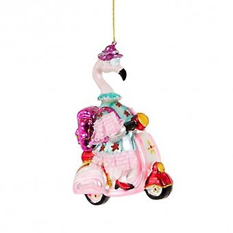 Sass and Belle Scooter Granny Flamingo Tree Decoration