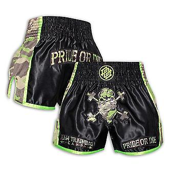 Pride Or Die Raw Obóz treningowy Muay Thai Short Black /Camo