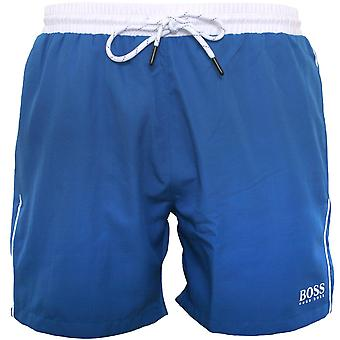 BOSS Starfish Shorts de natation, True Blue With White Contrast