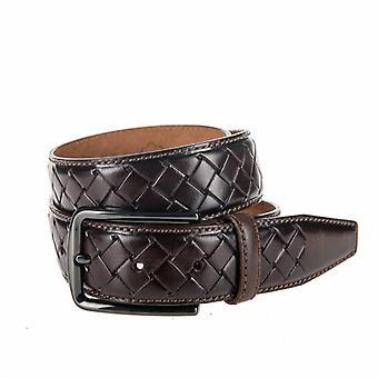 Beautiful Braid look, Brown Men's Belt