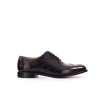 CHURCH'S BERLIN BURGUNDY POLISHBINDER OXFORD LACE-UP