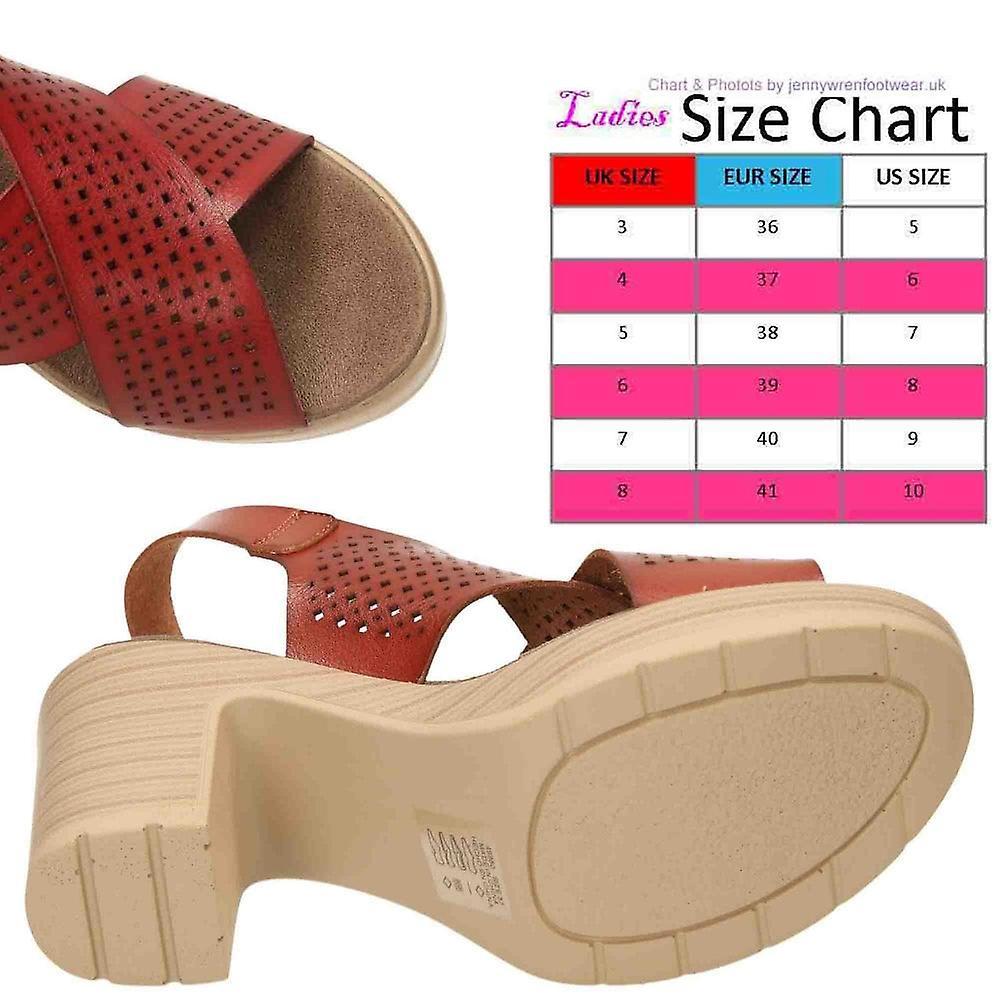 XTI Slingback Platform Crossover Block Heel Sandals 49860 Brown - Gratis verzending wD7T1s