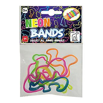 Neon Bands Bracelet Safari 6 pieces