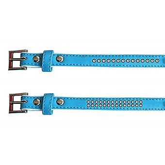 Freedog Bright Blue Collar leatherette 1,3x25cm