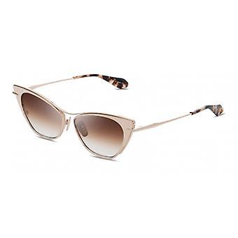 Dita Von Teese DTS522 02 12K Gold/Dark Brown Gradient Sunglasses