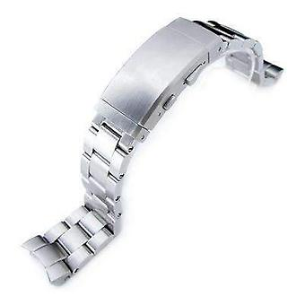 Strapcode watch bracelet 20mm super oyster 316l stainless steel watch band for seiko skx013, wetsuit ratchet buckle