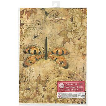 Stamperia Rice Paper Sheet A4-Mixed Media Dragonfly