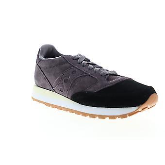 Saucony Jazz Original Suede  Mens Black Low Top Lifestyle Sneakers Shoes