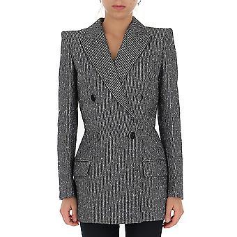 Givenchy Bw309y12aw004 Frauen's graue Wolle Blazer