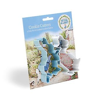 Peter Rabbit™ Poly-Resin Coated Cookie Cutter Set x 2