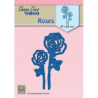 Nellie's Choice Shape Die Roses SDB080 49x80mm