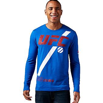 Reebok Ufc Fan Long Sleeve AO2330 training all year men t-shirt