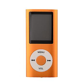 FMラジオサポート付きスリムMP3プレーヤー - オレンジ