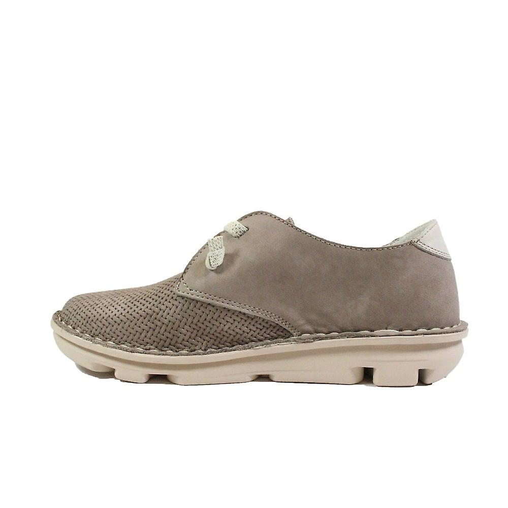 On Foot Blucher 30102 Taupe Nubuck Leather Womens Slip On Shoes