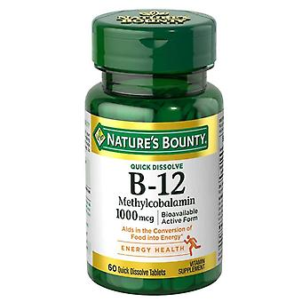 Nature's bounty vitamine b-12 methylcobalamin 1000 mcg, tabletten, 60 ea