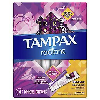 Tampax radiant tampons, regular absorbency, unscented, 14 ea