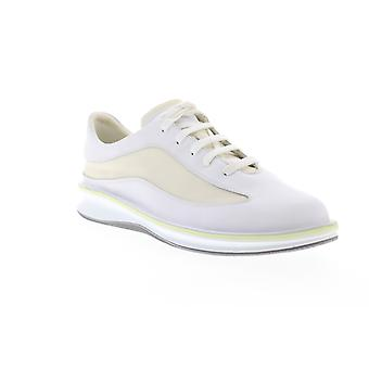 Camper Rolling  Mens White Leather Lace Up Low Top Sneakers Shoes