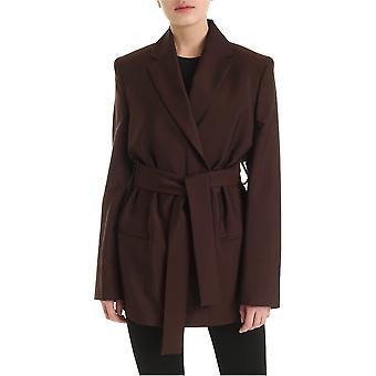 Acne Studios Ah0078adn Women's Brown Wool Blazer