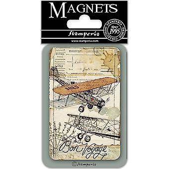 Stamperia Bon Voyage 8x5.5cm Magnet