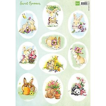 Marianne Design Decoupage Sweet Bunnies VK9575 A4
