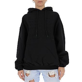 Ireneisgood Igfgh003001 Women-apos;s Black Cotton Sweatshirt