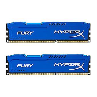 HyperX HX316C10FK2/16 Fury 16 GB (2 x 8 GB), 1600 MHz, DDR3, CL10, UDIMM, 1,35 V, modrá
