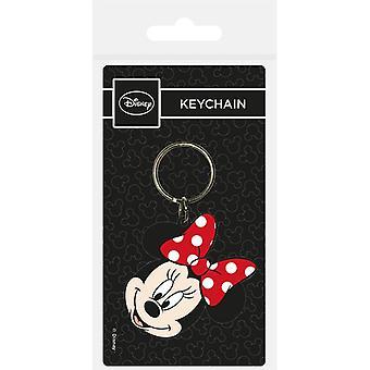 Minnie Mouse Head Gummi Nyckelring