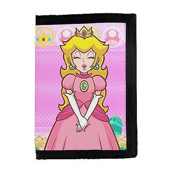 Carteira de Pêssego Super Mario