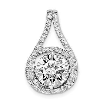925 שטרלינג מצופה היהלומים מצופים CZ מעוקב שרשרת יהלום שקופית תכשיטים מתנות לנשים