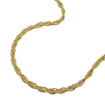 Chain 1, 6 mm anchor 14Kt GOLD turned 45cm