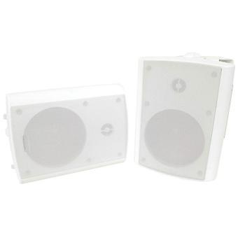 テックブランド4&クォート;屋内屋外双方向調整可能スピーカー付き/ マウント(ホワイト)