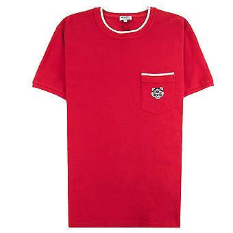 Kenzo Pocket Tiger Crest T-shirt rosso