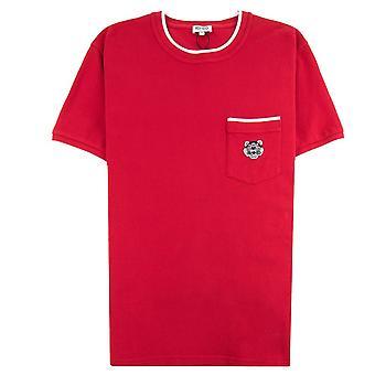 Kenzo Pocket Tiger Wappen T-shirt rot