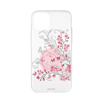 Runko IPhone 11 Pro Pehmeät kukat ja perhoset