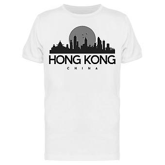 Hong Kong China Silhueta Tee Men's -Imagem por Shutterstock