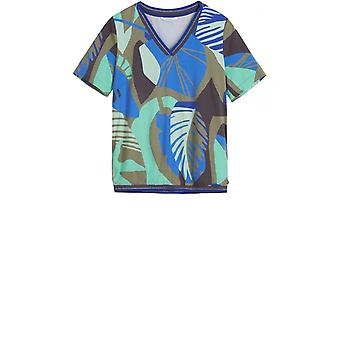 Sandwich Clothing Blue & Green Bold Print Blouse