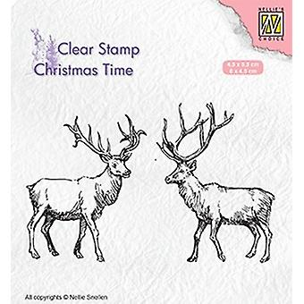 Nellie Snellen Clear Stamp - Two Reindeer (Christmas)