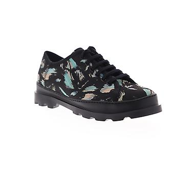 Camper Brutus Mens Black Canvas Floral Low Top Euro Sneakers Schoenen