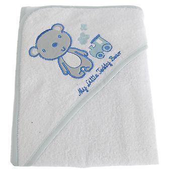 Snuggle Baby Baby Boys My Little Teddy Bear Hooded Towel