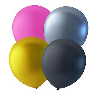 Balloons mix 24-pack Pink, Gold, Silver and Black