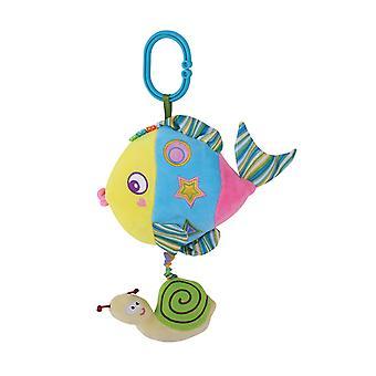 Lorelli Baby Music Pluche Speelgoed zeedieren, muziek, piepen, rimpel zones, 32 cm