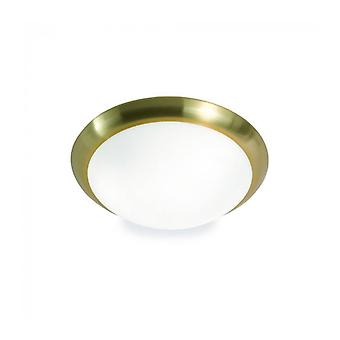 Satin Brass Ceiling Light 2 Bulbs