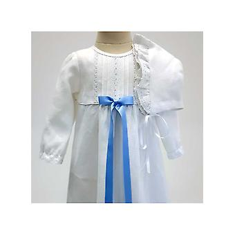 Christening Gown With Long Sleeve, Free Choice Of Bow, Grace Of Sweden