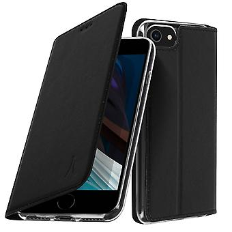 Protective Cover for iPhone SE 2020/8/7 with Flap video support Akashi Black