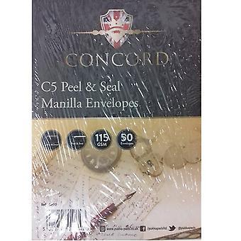 Pukka Post Concord C5 Manilla Self-Seal Envelopes (Pack Of 50)